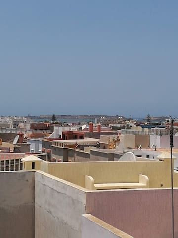 View of the ocean from the roof terrace