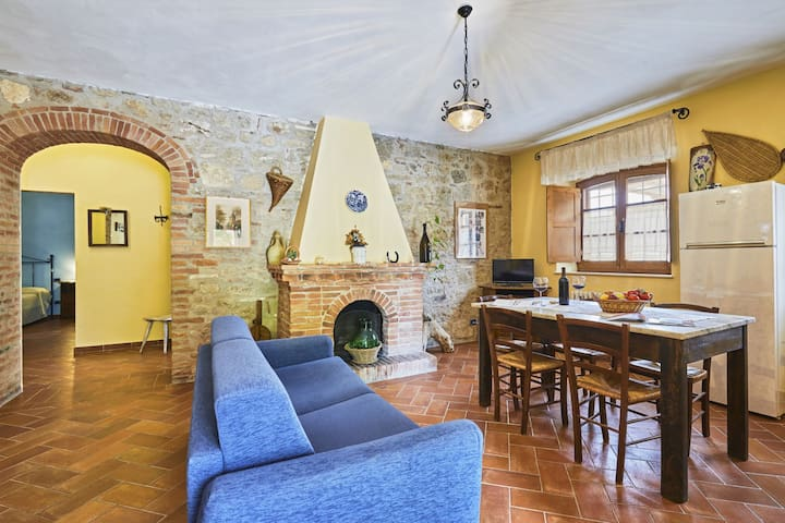 Crete Senesi: farmhouse with pool and great view