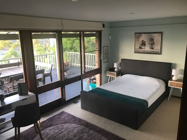 Comfy queen size bed, with direct access to the veranda