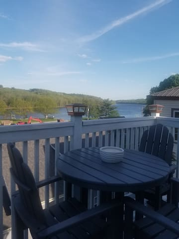 View of Kennebec River from balcony