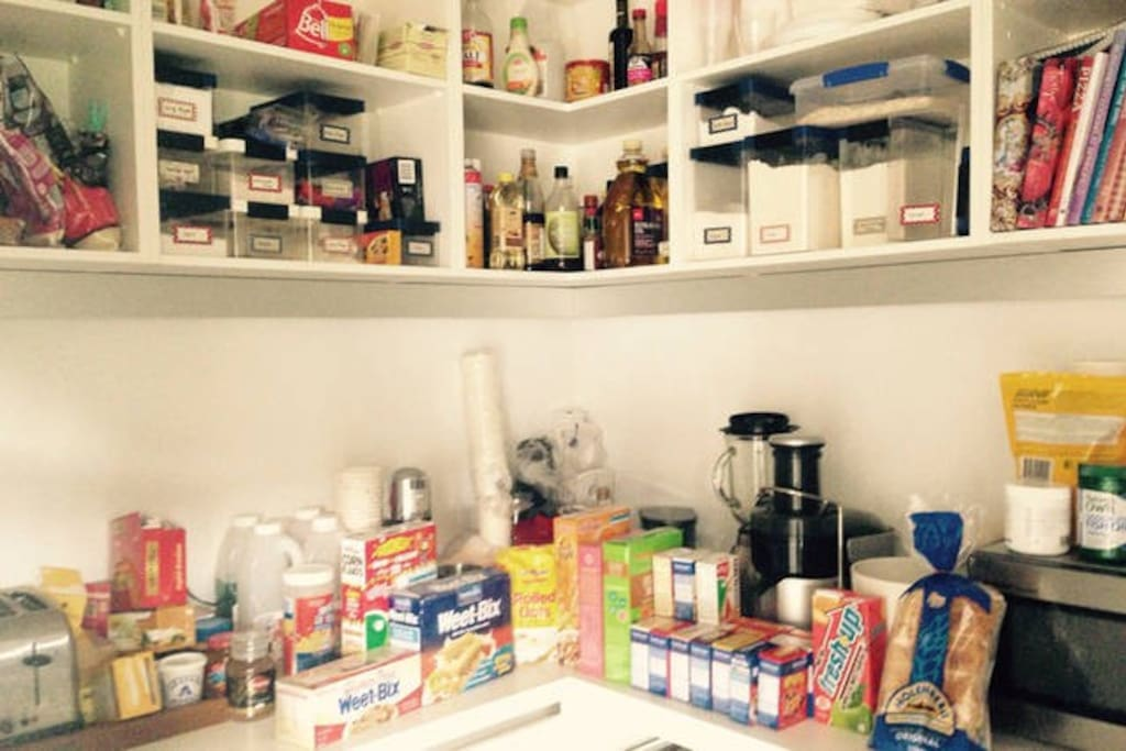 Pantry for your breakfast supplies.