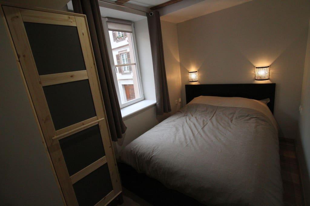 Chambre avec lit 2 places tout confort