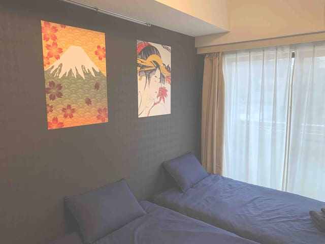 2bedroom#4mins walk stn&Tokyo#Max4(604)