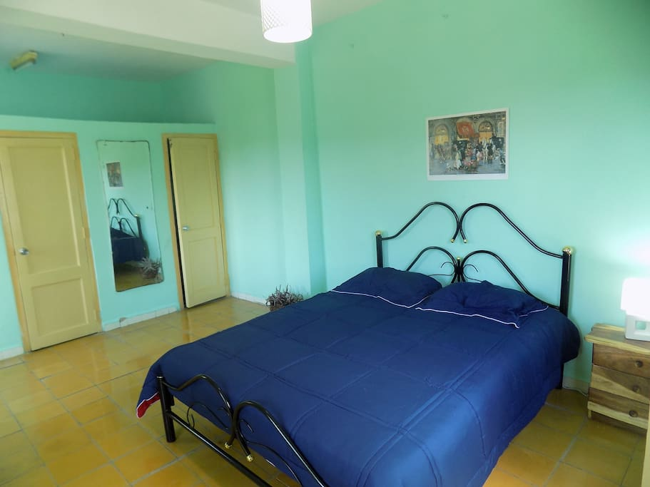 """Our fourth room which we call """"La Giraldilla"""" is spacious and clean, it has its own en suite bathroom and private terrace with an outstanding view of the neighbourhood."""