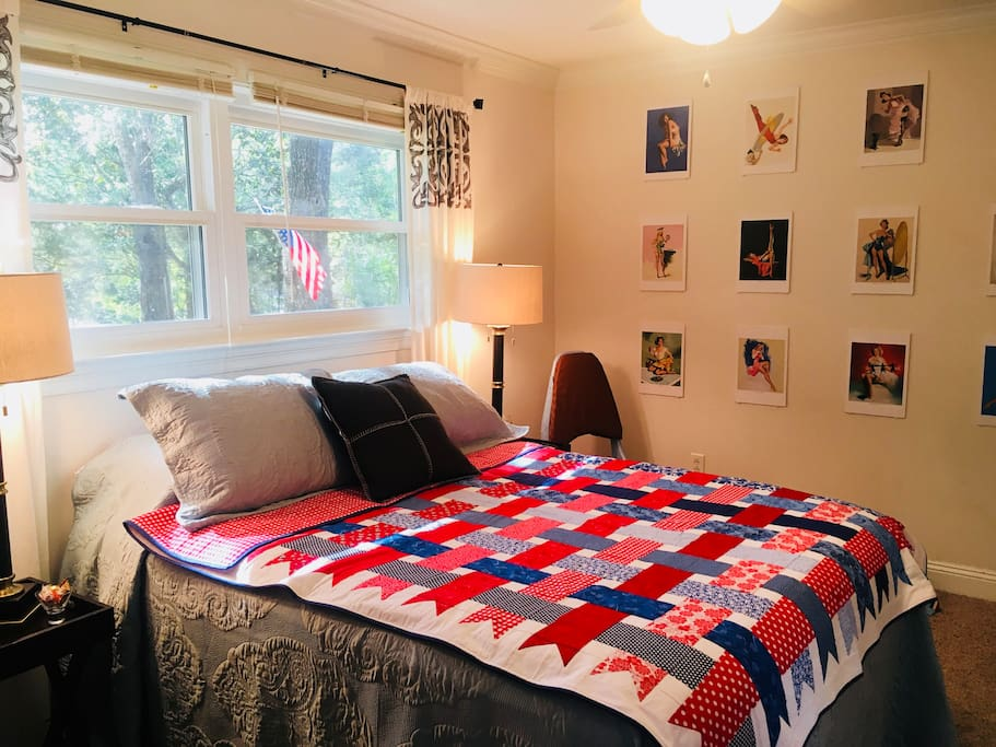 A pillow-top mattress, private AC, and lots of lovely natural light are waiting for you!