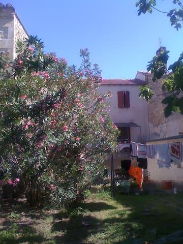 Maison de charme ds village : jardin et terrasse