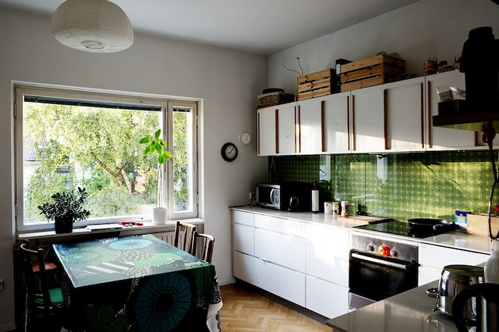 Cosy apartment with a garden view