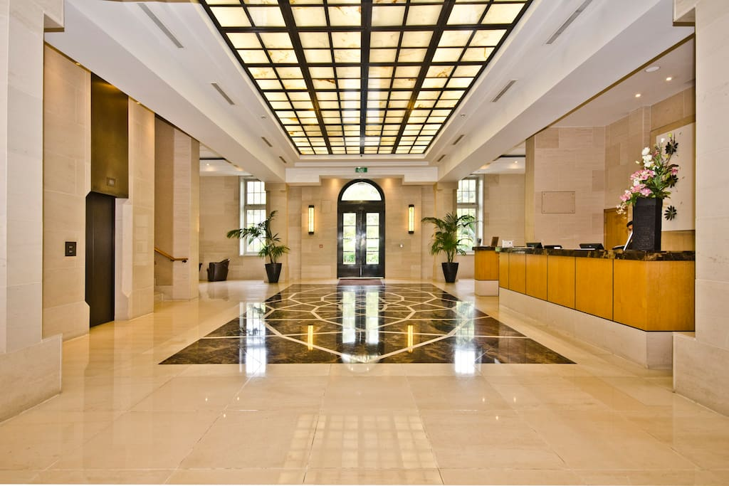 This is the beautiful front lobby of the hotel area