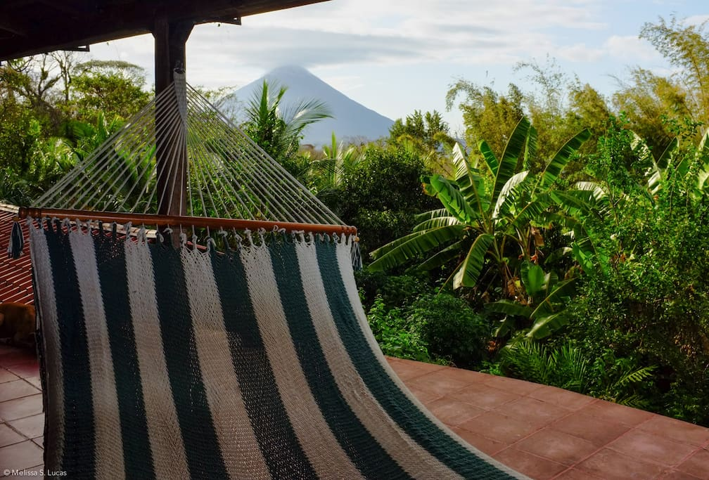 Welcome to the Homestead! Enjoy hammock time looking over the lush landscape to volcán Concepción