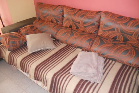 Casual bed in living room - Salt