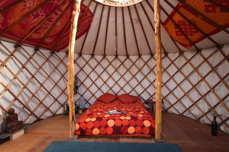 Mountain-side yurts with amazing views - Colmeal - Iurta