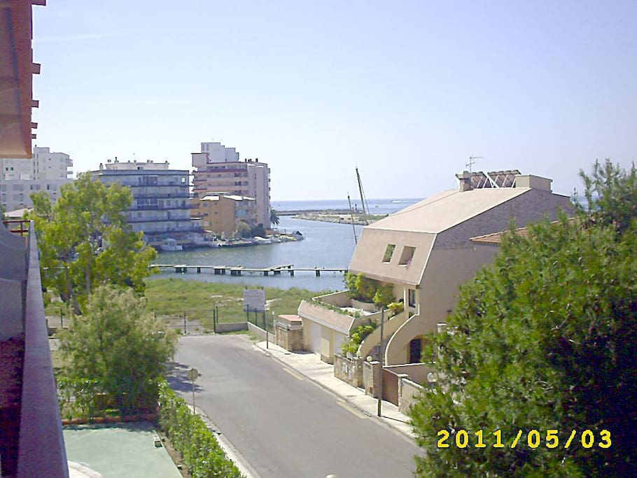 View on the left from balcony