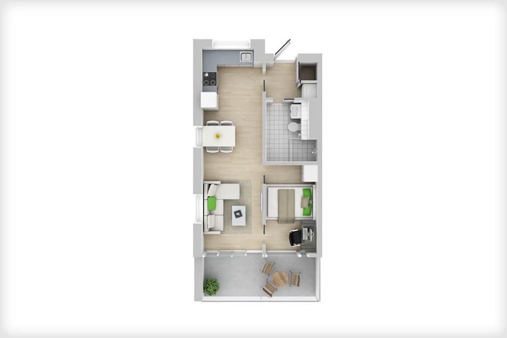 Plantegning leiligheten