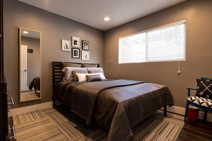Bedroom one features a brand new queen size bed and plenty of closet space to accommodate your things.