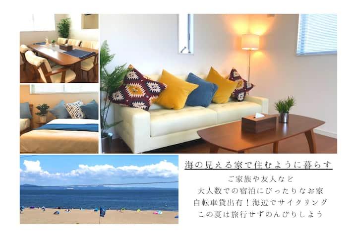 海の目の前で住むように暮らす夢の家 三浦海岸駅より徒歩5分《新築一棟貸し・ワーケーションにも◎》