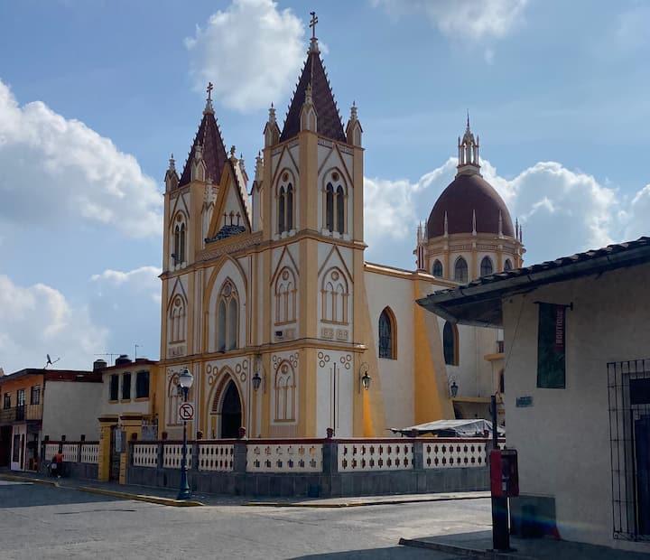 Estudio en el centro de Coatepec