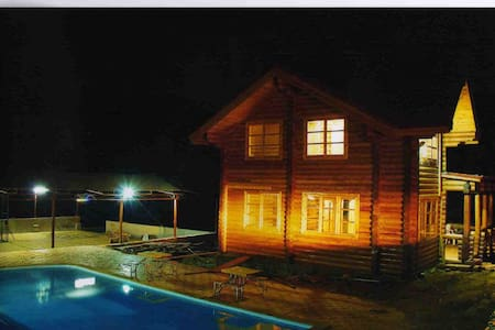 3  BHK  RUSSION PINE  WOODEN  LOG  HOUSE