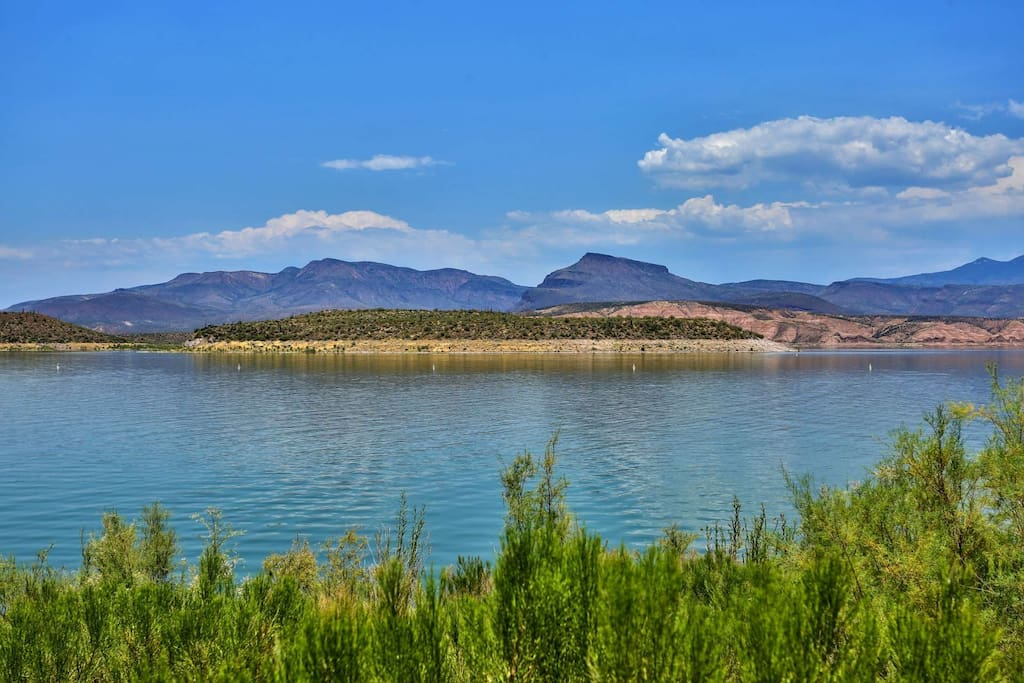 Beautiful view at Roosevelt Lake just minutes from Roosevelt Lake Resort Motel