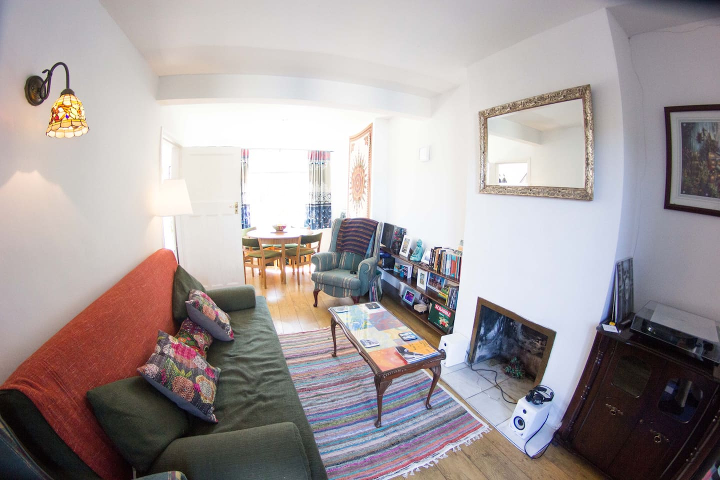 Relax in our cosy living room and dining area.