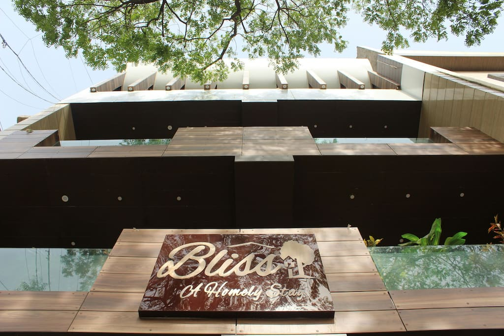 Hello, so this is my beautiful place Bliss Homestay ! And what you see in the picture is the Amazing front Elevation :D