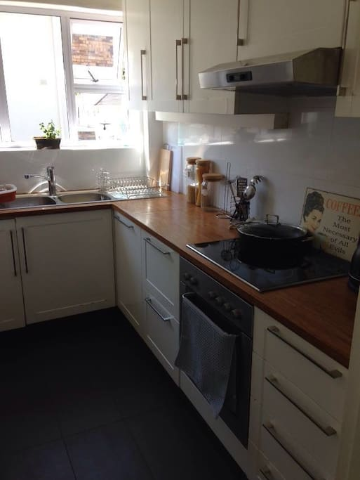 Kitchen. Fully equipped with oven, microwave, fridge & freezer, kettle and toaster.