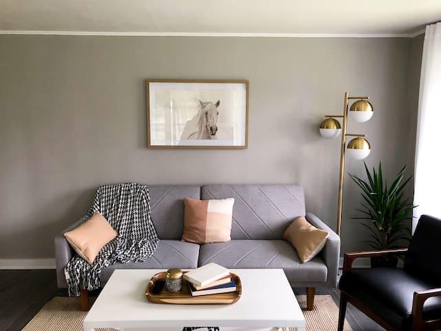 Crisp and cozy home
