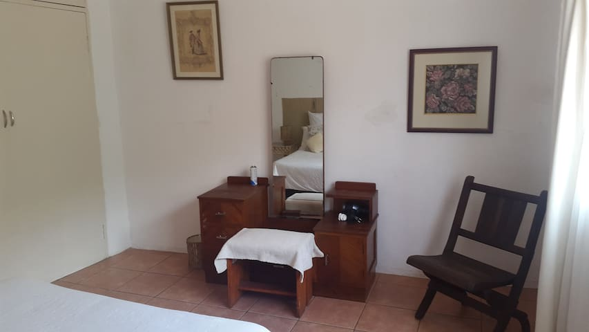 Main bedroom dressing table and hair dryer