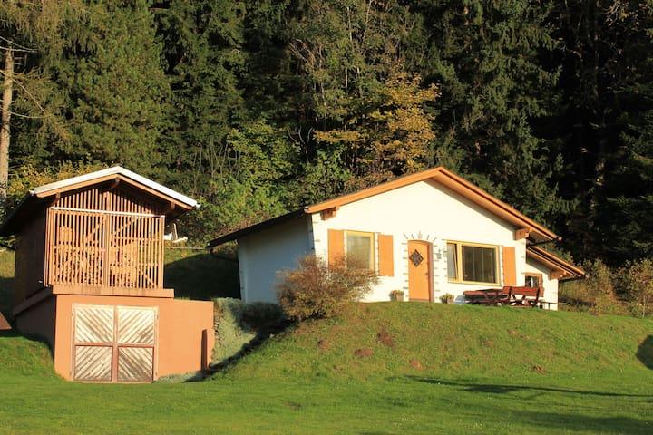 Accogliente casa vacanze con piscina privata a Eberstein