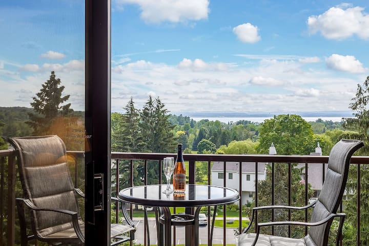 One of the most sensual views on the property. Whether inside or on the deck you'll hear an abundance of nature, catch some jaw dropping sunsets and you even get a telescope to watch the stars.