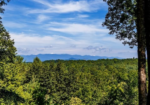 Brevard Retreat Home with Amazing Long Range Views