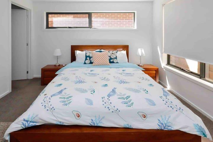 Room 1:Ground floor master room-queen size bed