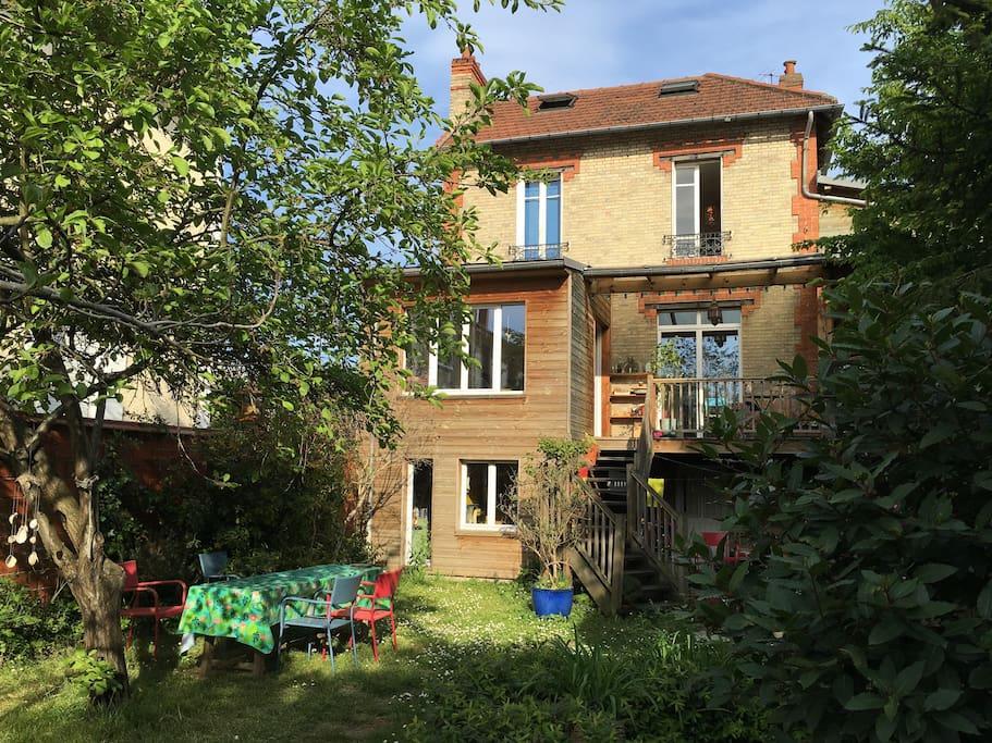 Maison avec jardin 20 mn de paris h user zur miete in - Location maison jardin ile de france colombes ...
