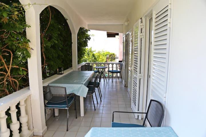 Three bedroom apartment with terrace and sea view Podaca, Makarska (A-312-b)