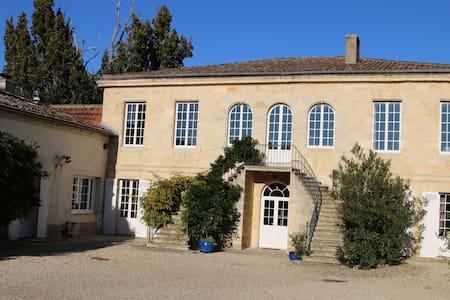 Chambres dans Chateau avec piscine accès Garonne - Portets