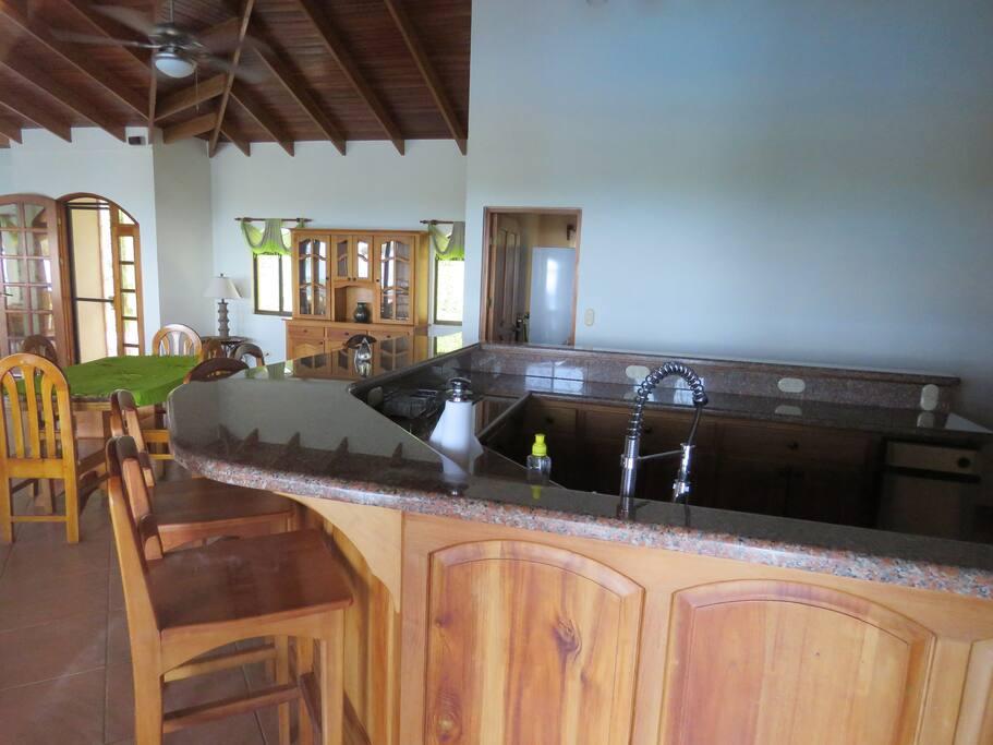 Large kitchen bar area