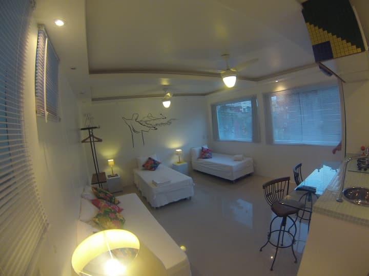 Apartamento para seis pessoas.