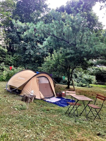 Rustic-Garden Tent glamping in Como city -lake