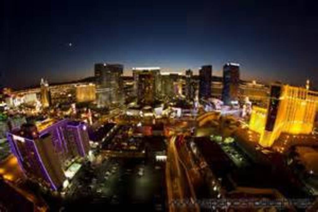 Beautiful view of Las Vegas from the room