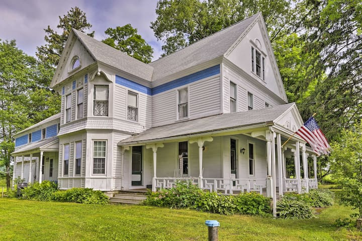 Victorian Home Near Cooperstown w/Fire Pit & Yard!