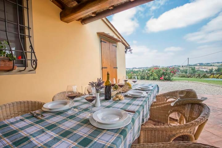 Amazing view, pool and relax, 5+2  - Castelfiorentino - Wohnung