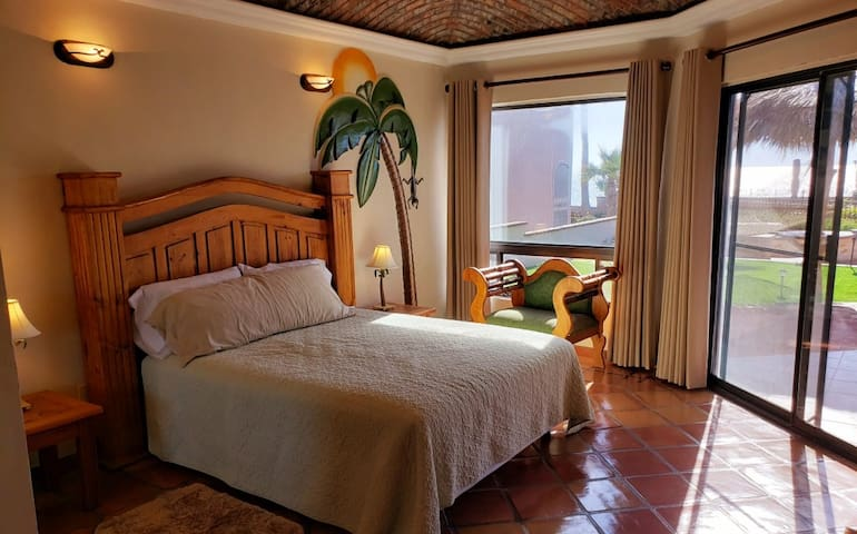 Monkey Guests Bedroom with great sunset views