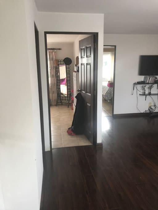 Vista para el dormitorio