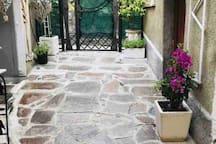 Cortile relax,romantico giardino
