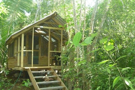 Moonracer Farm:  Cohune Camping Casita Room 4 - Santa Elena - Kabin