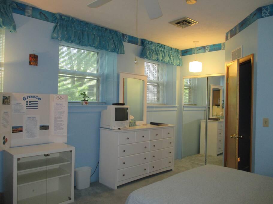 Room has 4 large windows