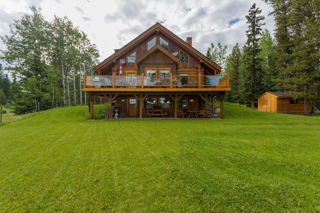 The B&B is the partial lower level of our Alpine home