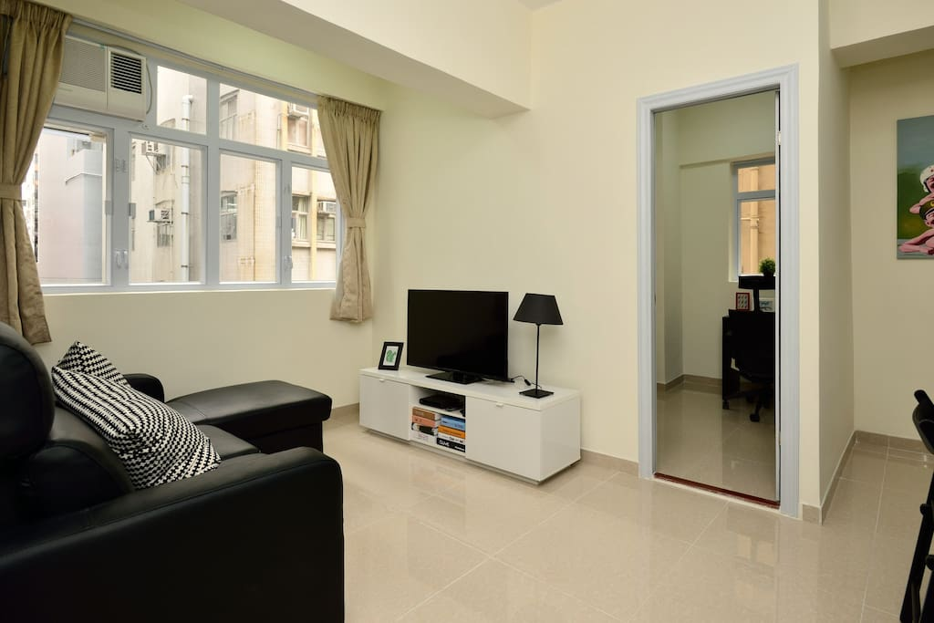 Living room with bedroom