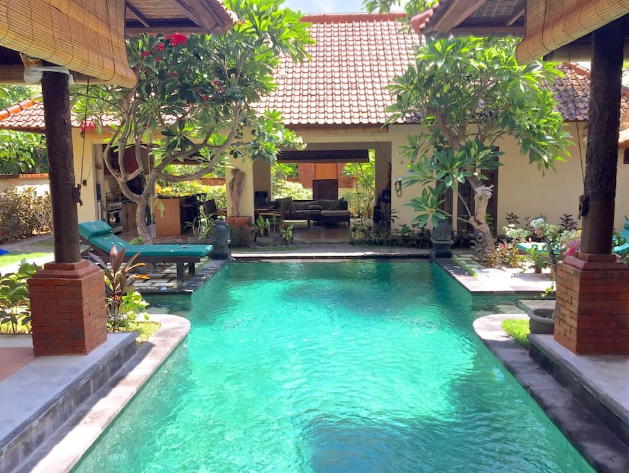 Step into the pool from your bedroom!
