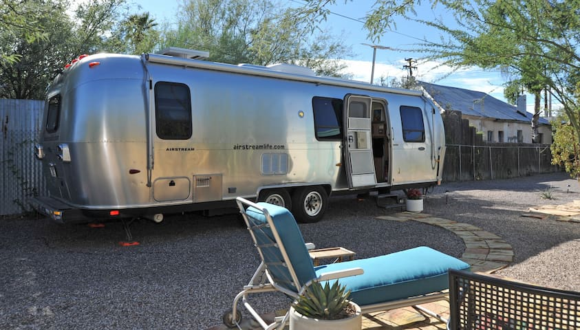 Urban Glamping in Cool Crisp Airstream