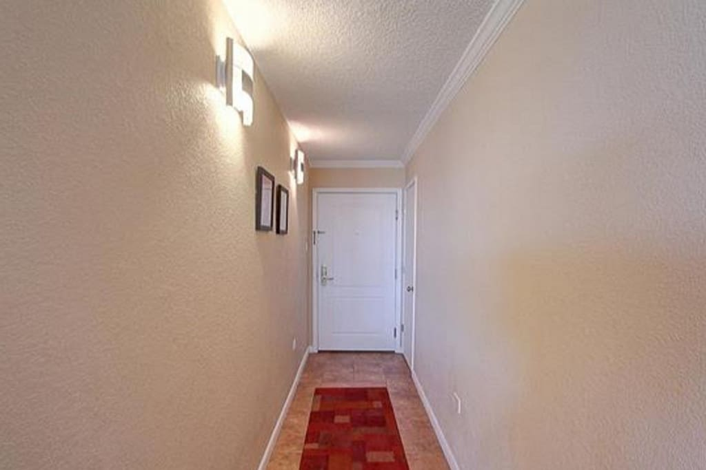 Private entrance/hallway with storage closet.